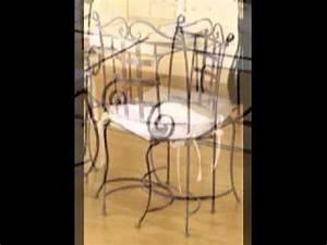 chaise table meuble de salle a manger en fer forge youtube With chaises en fer forge pour salle a manger