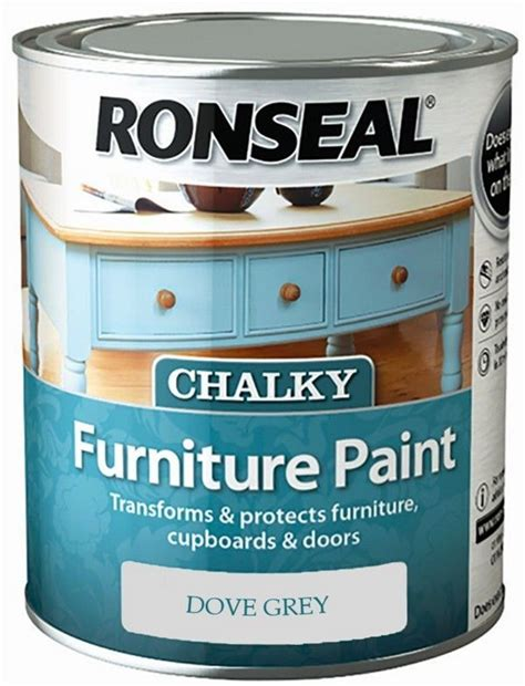 ronseal chalky furniture paint ml dove grey