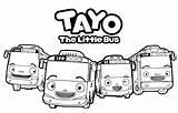 Coloring Tayo Pages Little Bus Print Printable Gambar Cartoon Getcoloringpages Kartun Disimpan Dari sketch template
