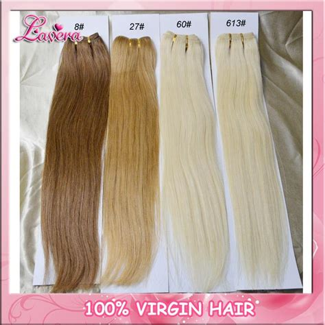 100 human hair extension color 8 27 613 hair wefts