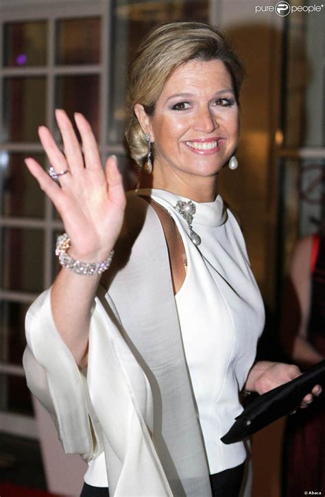 chambre de commerce pays bas la princesse maxima arrive le 23 janvier 2012 au dîner de