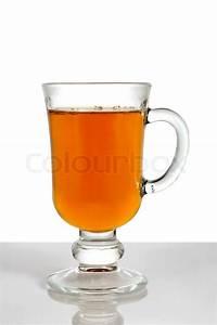 Tee Im Glas : hei er tee im glas tasse auf wei em hintergrund stockfoto colourbox ~ Markanthonyermac.com Haus und Dekorationen