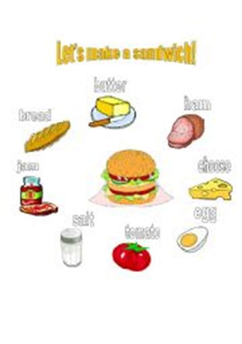 lets   sandwich poster flashcards labels