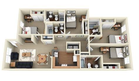 "50 Four ""4"" Bedroom Apartment/house Plans"