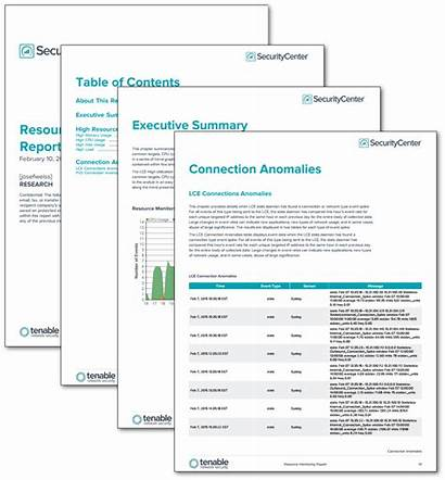 Report Monitoring Tenable Templates Resource Template Security