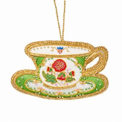 Teacup Ornament China Polk Ornaments