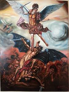 Saint Michael fighting the devil and the heathens - YouTube