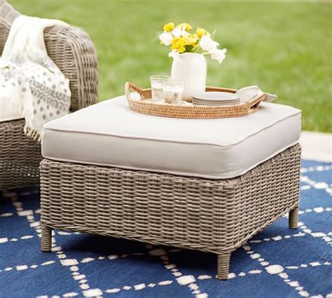 torrey all weather wicker occasional chair ottoman