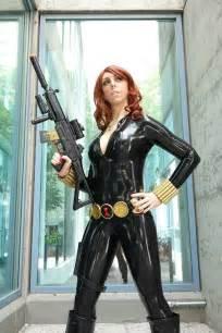 Black Widow Latex Cosplay