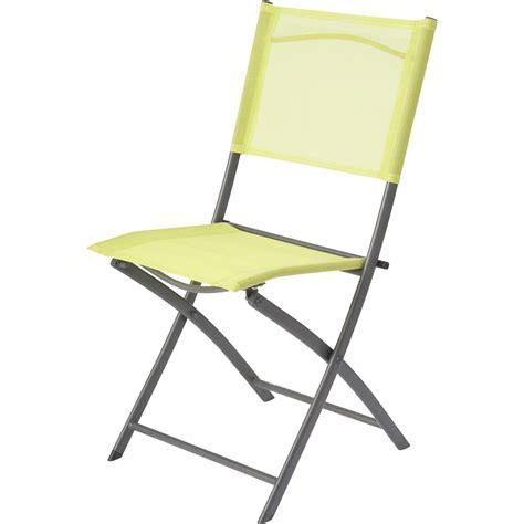 leroy merlin chaise pliante chaise de jardin en acier denver vert leroy merlin