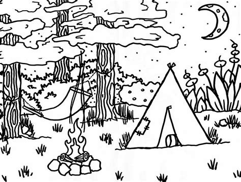 camping coloring pages getcoloringpagescom