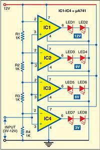 Led Voltmeter Circuit Diagram