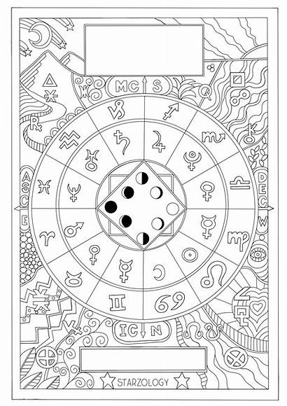 Astrology Colouring Coloring Grown Ups Heart