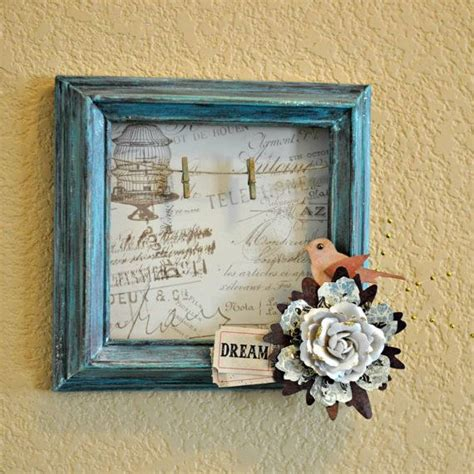 Altered Frame Distressed Turquoise Bird