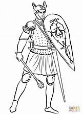 Medieval Coloring Pages Soldier Roman Soldiers Printable Sheet Drawing Knights Mace Helmeted Armored Middle Ages Games Version Dot sketch template