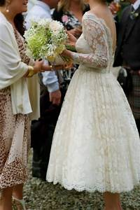 Vintage Lace Wedding Dresses with Tea Length | Sang Maestro