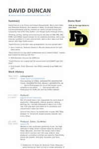 best resume for videographer videographer resume sles visualcv resume sles database