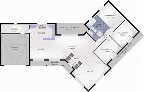 plan maison en v plan de maison en v avec tour