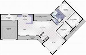 plan de maison en v avec tour With plan maison avec tour