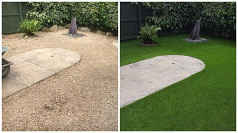 grass installation artificial turf transformation in middlesbrough with highest quality synthetic grass lion lawns