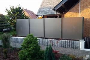 Sichtschutz Befestigung Auf Mauer : windschutz f r die terrasse glasprofi24 ~ Watch28wear.com Haus und Dekorationen