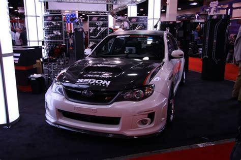 cw style carbon fiber hood    subaru wrx sti