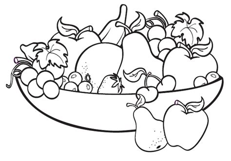 New Coloring Pages For Fruit Basket Gallery
