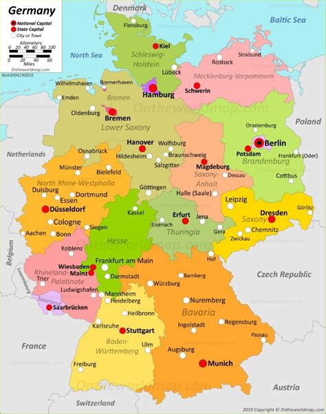 germany maps maps  germany