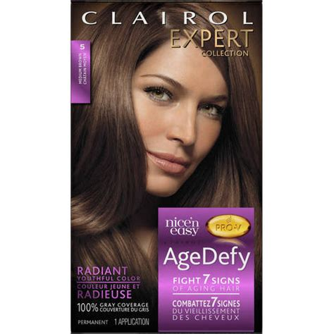 age defy hair color clairol expert collection age defy hair color 5 medium