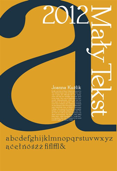 abstract posters typography publication design joanna m kuzlik