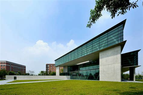triangular geometry defines asia museum of modern by tadao ando