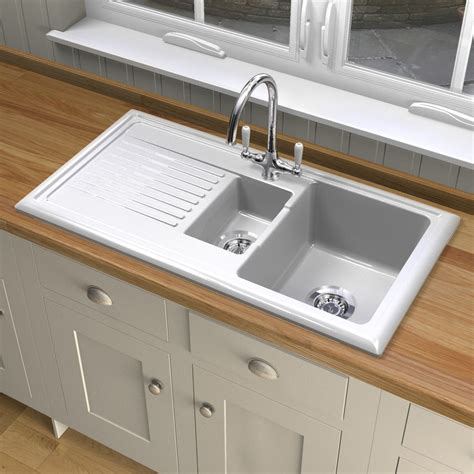 reginox kitchen sinks reginox rl301cw ceramic sink and elbe tap sinks taps 1820