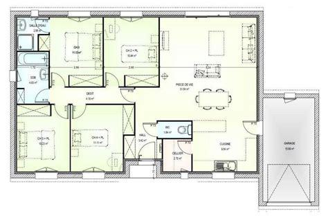 plan maison 5 chambres gratuit plan maison plain pied gratuit 4 chambres 2 plan maison