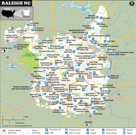 raleigh map north carolina map  raleigh