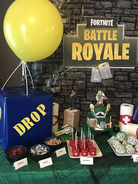 fortnite birthday party ideas photo    catch  party