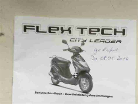 flex tech city leader flex tech city leader 4 taktroller mit topcase bestes angebot roller