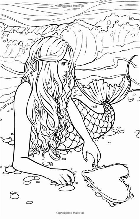 mermaid coloring pages printable lovely artist selina fenech fantasy myth mythical mystical