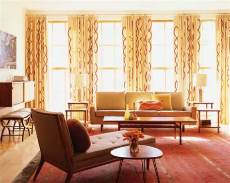mid century modern curtains drapes when large prints work why