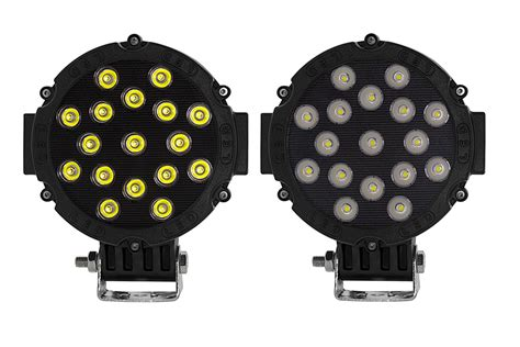 6 inch round led offroad lights 6 quot round 51w heavy duty high powered led work light led