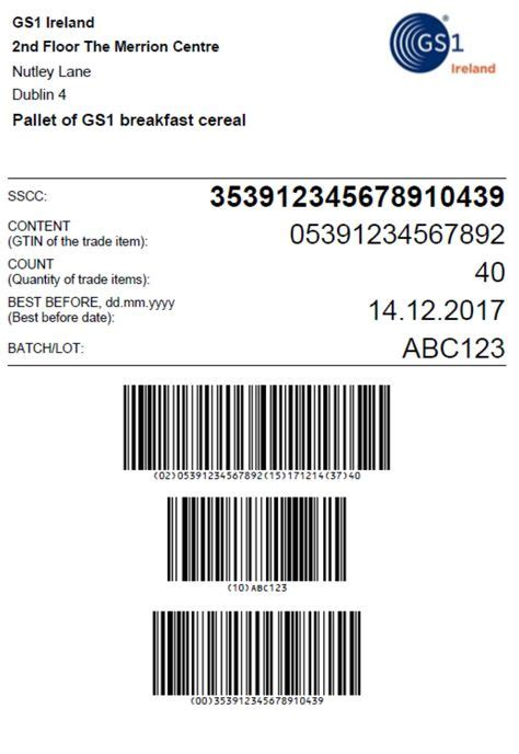 Idautomation code 128 barcode fonts 9.08 the idautomation code 128 barcode font advantage package is much more than a few barcode fonts. Sample GS1 Pallet Label layout with a Serial Shipping Container Code (SSCC) in a GS1 128 barcode ...