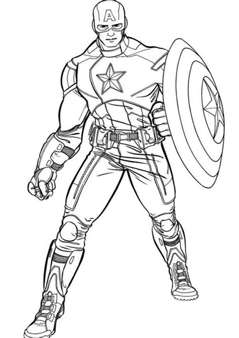 easy  print captain america coloring pages tulamama