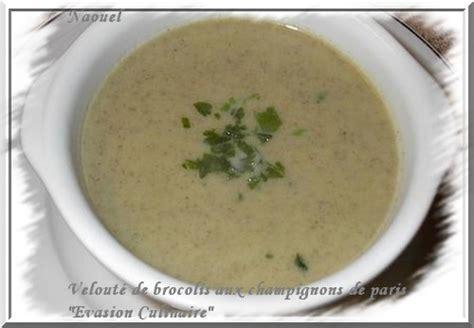 cuisiner le brocolis frais velouté de brocolis aux chignons de
