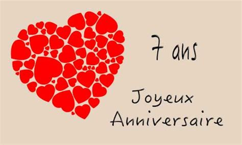 carte virtuelle anniversaire de mariage 7 ans carte anniversaire mariage 7 ans coeur