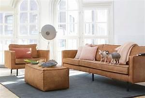 Canapé Vintage Cuir : canap en cuir marron vintage ~ Teatrodelosmanantiales.com Idées de Décoration