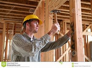 Construction Man Using Hammer Stock Photos - Image: 2062423