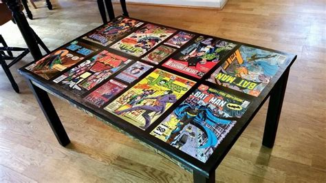 A Buddy Of Mine Put Together A Comic Themed Coffee Table
