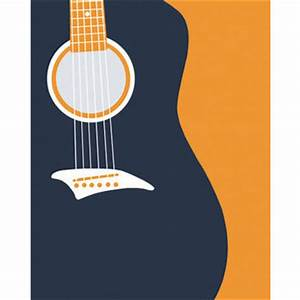 Acoustic Guitar Silhouette, Modern Wall from nevedobson on ...