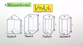 oberfläche berechnen volumen und oberfläche eines prismas berechnen mathematik sofatutor