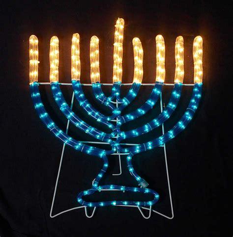hanukkah indoor outdoor rope light decoration 4 tall