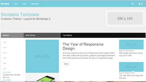 Free Bootstrap Right Sidebar Templates